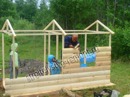 фото даче построить детский домик на
