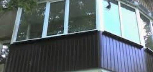 Обшить балкон профнастилом